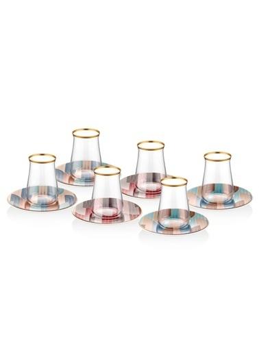 The Mia Gatsby Çay Seti- 6Kişilik Renkli